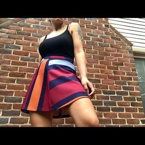 Zara Color Block Skirt